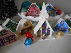 Alpine Christmas Village 9 piece with Church. $24.00, via Etsy.