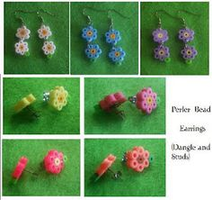 hama bead earrings