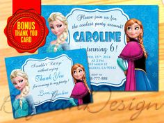 Frozen Birthday Invitation  Frozen Birthday Party by BogdanDesign, $5.99
