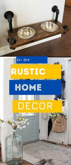 Brilliant Rustic Home Design #rustichouse #rustichomedecor Rustic Home Design, Diy Rustic Decor, Rustic Theme, Diy Home Decor, House Design, Decoration, Simple, Pretty, Top