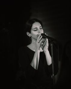 Lana Del Rey performing at the Spotify event of her new album, 'Lust For Life,' at No Vacancy on July 20, 2017 in Los Angeles, California