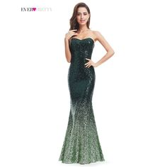 Sparkle Prom Dress Ever Pretty Women Mermaid Sweetheart Strapless Ombre  2017 Gorgeous Long Sequin Party Prom Gown - TakoFashion - Women s Clothing    Fashion ... 26be848546ff