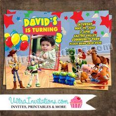 Toy Story Birthday Invite Printable or Prints You Decide Toy Story Invitations, Photo Invitations, Birthday Invitations, Toy Story Birthday, 3rd Birthday, Toy Story 3, Invite, Printables, Toys