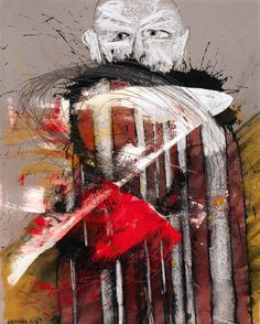"Creedance 2016 26"" X 20"" watercolor, pencil and crayon on handmade paper #art #artist #artlife #artwork #artworld #artoftheday #artistoftheday #creativity #contemporaryart #drawing #expressionism #fineart #figurative #instaart #imagination..."