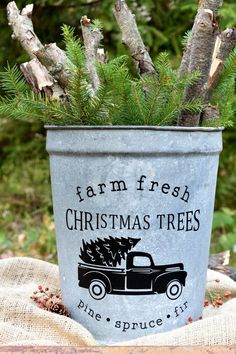 50 Creative & Classy DIY Christmas Table Decoration Ideas - The Trending House Christmas Tree Bucket, Black Christmas Trees, Classy Christmas, Christmas Porch, Country Christmas, Outdoor Christmas, Christmas Ideas, Christmas Crafts, Vintage Christmas
