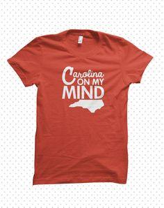 North Carolina Minded  madetoorder tshirt by HandmadeEscapade, $15.00