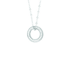 """Anna Beck Charity """"Circle of Life Open O"""" Necklace in Silver Jewelry Box, Fine Jewelry, Jewelry Making, Jewellery, Circle Of Life, Necklace Designs, Silver Necklaces, Gold Chains, Fashion Jewelry"""