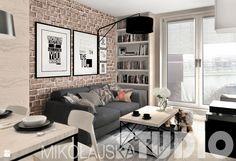 beton-drewno-cegła-salon - zdjęcie od MIKOŁAJSKAstudio