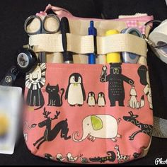 Nurse Pouch, Nurse Bag, Laminated Cotton Fabric, Sewing Projects, Craft Projects, Photo Pattern, Hook And Loop Tape, Pocket Organizer, Tool Belt
