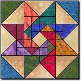 Whirling Star Quilt Block