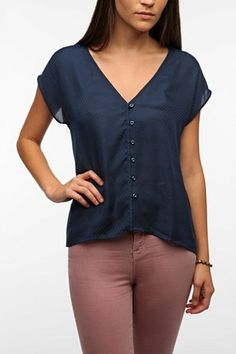 Pins and Needles Jacquard High/Low Blouse