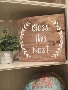 Bless this Nest Wood Sign by ShopKmichelle on Etsy
