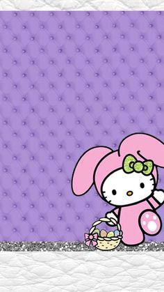 New Wallpaper Android Art Hello Kitty 64 Ideas Easter Wallpaper, New Wallpaper Iphone, Holiday Wallpaper, Trendy Wallpaper, Love Wallpaper, Pretty Wallpapers, Matching Wallpaper, Hello Kitty Backgrounds, Hello Kitty Wallpaper