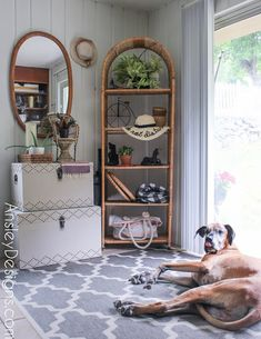 Neutral Boho Entryway! Vintage mirror wicker shelf Boho Entryway, Painted Furniture, Vintage Mirror, Refinishing Furniture, Affordable Home Decor, Ladder Decor, Home Decor, Vintage Furniture, Wicker Shelf