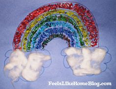 Rainbow rice mosaic...