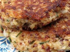 Quinoa Patties - Cooking Quinoa  Do something with the eggs to make them vegan and non-dairy parmesan cheese.