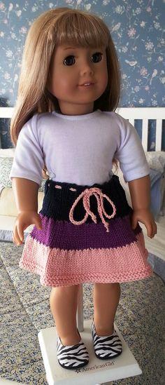 Hand Knit Three Tiered Skirt for the American Girl von marshalynn