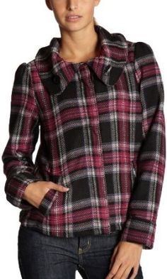 "Roxy Junior's ""Funky Fresh"" Wool Plaid Jacket,Multi,X-Small Roxy. $69.50"