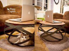 DIY: une table basse très originale réalisée à partir de cerclages de tonneaux!
