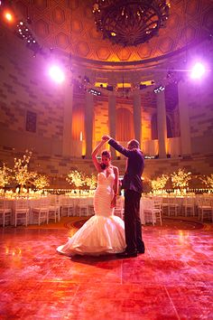 Capturing the The First Dance is paramount in wedding photography. The lighting and color here are fantastic!