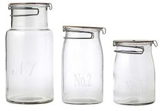 S/3 Numbered Glass Jars on OneKingsLane.com - ordered for above the sink?