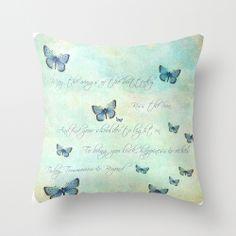 Butterflies Throw Pillow Lovely,just lovely