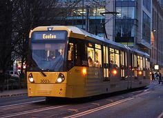 Manchester Tram this is a service to eccles