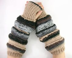 knit fingerless gloves arm warmers knit fingerless by piabarile