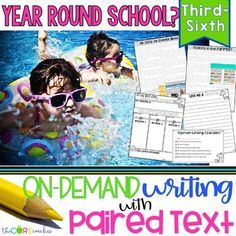 Year-Round School Paired Texts: Writing On-Demand Opinion Essay Editable