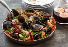 Recipe for seafood paella