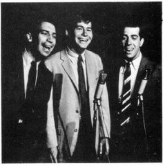 The Mitchell Trio:  Mike Kobluk, John Denver, and Joe Frazier.