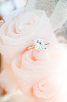 #Princess-Cut Engagement Rings // Aisle Perfect  Square cut engagement ring: http://www.stylemepretty.com/california-weddings/glen-ellen/2014/06/12/romantic-meets-rustic-wine-country-wedding/ | Photography: Kate Webber - http://katewebber.com/