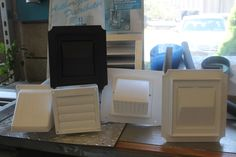wall vents, eave vents, for dryers and bathroom fans.