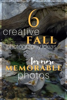 We're going to share 6 Creative Fall Photography Ideas to help you capture more memorable photos! Here's some tips you should know that go above and beyond capturing the typical fall scenes! #photographytips #improvephotography #photographyskills #photographyideas #bearswithcameras