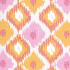 pink & orange ikat fabric