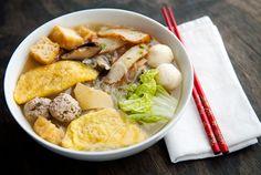 Chinese Egg Dumplings in soup