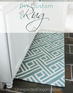 Modify a Rug to Fit any Space.  This is a great tutorial with step-by-step directions!