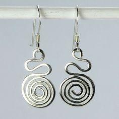 Silver Swirl Earring
