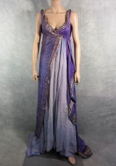 Spartacus Screen Worn Female Upper Class Roman Gown COA | eBay