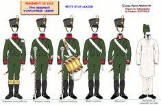 Fanteria leggera 2° Rgt. testa della colonna 1812