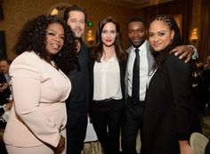 Brad Pitt and Angelina Jolie hit up the AFI Awards today at the Four Seasons in Beverly Hills, and the power couple spent time shmoozing with Oprah and a slew of other stars during the event.