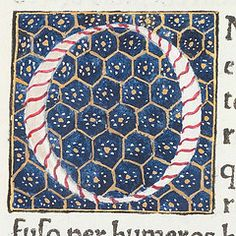 "Decorated initial ""O"" from Scriptores historiae Augustae."
