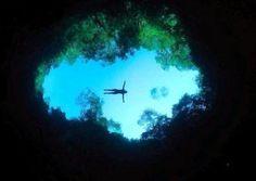 Anhumas Abyss Brazil cave diving  | Bonito HI Hostel Albergue - Bonito and Pantanal Ecological MS