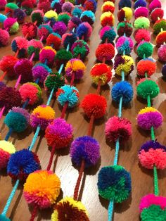 Handmade Pompom garlands. Made in Mexico. Enquiries and wholesale: jubelshop@outlook.com