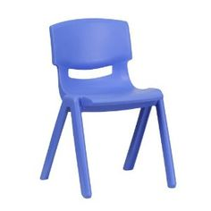 Blue Plastic Stackable School Chair w/ Seat Height - Flash Furniture chair is the perfect size for Kindergarten to Grade sized children. Having young children sit in a chair that is designed for them is important in deve Coastal Furniture, Shabby Chic Furniture, Modern Furniture, Blue Furniture, Lego Furniture, Toddler Furniture, School Furniture, Student Chair, School Chairs