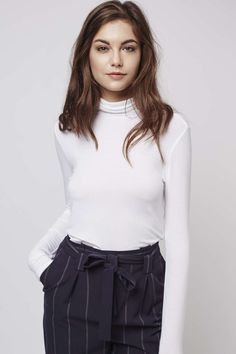 Photo 3 of Clean Roll-Neck Top