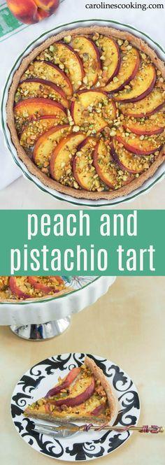 Peach and pistachio