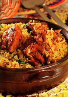 HAPPY CINCO DE MAYO RECIPES ... Guinea-fowl with Rice Recipe (Capote com Arroz) ~ INGREDIENTS: Guinea-fowl (or chicken) - Cloves garlic - Annatto paste or powder (sweet paprika can be substituted) - Large tomato - Medium yellow onion - Red or green bell pepper - Salt  - Neutral vegetable oil - Water - Long-grain rice
