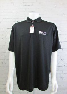 Antigua Waste Management Desert Dry Black Golf Work Uniform Polo Shirt Large #Antigua #Polo #Golf #Wastemanagement