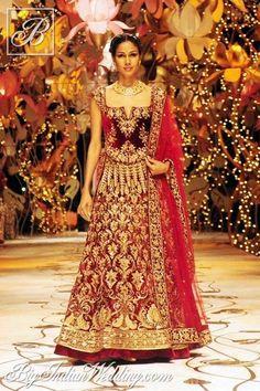Rohit Bal wedding lehenga